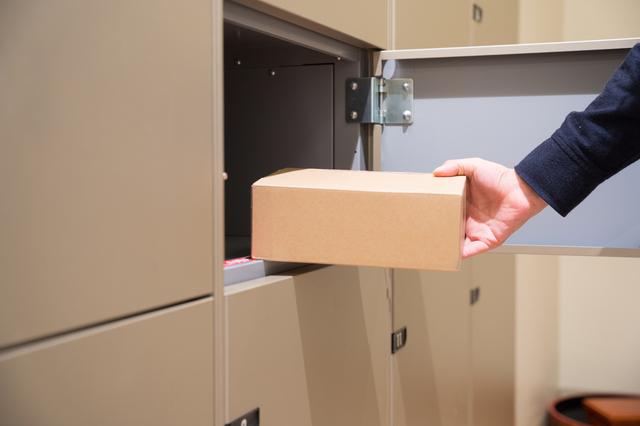 宅配ボックスに配達される定期便